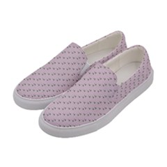 Pink Flowers Pink Women s Canvas Slip Ons by snowwhitegirl