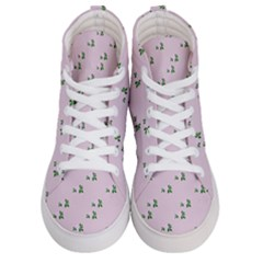 Pink Flowers Pink Big Men s Hi Top Skate Sneakers