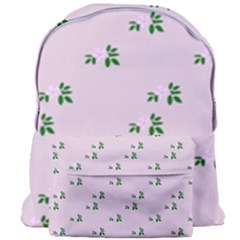 Pink Flowers Pink Big Giant Full Print Backpack