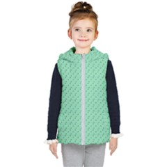 Pink Flowers Green Kid s Puffer Vest