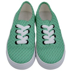 Pink Flowers Green Kids  Classic Low Top Sneakers
