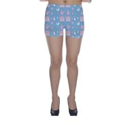 Baby Pattern Skinny Shorts