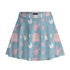 Baby Pattern Mini Flare Skirt