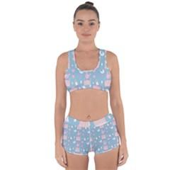 Baby Pattern Racerback Boyleg Bikini Set