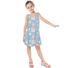 Baby Pattern Kids  Sleeveless Dress