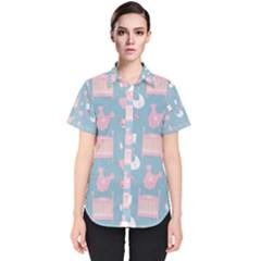 Baby Pattern Women s Short Sleeve Shirt