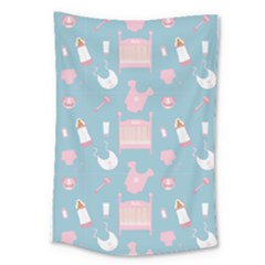 Baby Pattern Large Tapestry