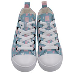 Baby Pattern Kid s Mid Top Canvas Sneakers