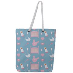Baby Pattern Full Print Rope Handle Tote (large)