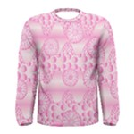 Amoebaflowerspink Men s Long Sleeve Tee