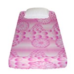 Amoebaflowerspink Fitted Sheet (Single Size)