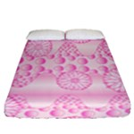 Amoebaflowerspink Fitted Sheet (Queen Size)