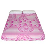 Amoebaflowerspink Fitted Sheet (King Size)