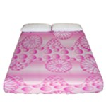 Amoebaflowerspink Fitted Sheet (California King Size)