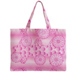 Amoebaflowerspink Zipper Mini Tote Bag