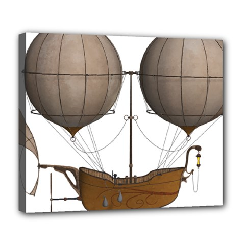 Air Ship 1300078 1280 Deluxe Canvas 24  X 20   by vintage2030