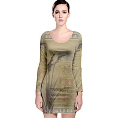 Background 1770118 1920 Long Sleeve Bodycon Dress