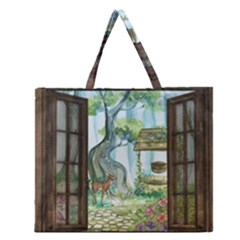 Town 1660349 1280 Zipper Large Tote Bag by vintage2030