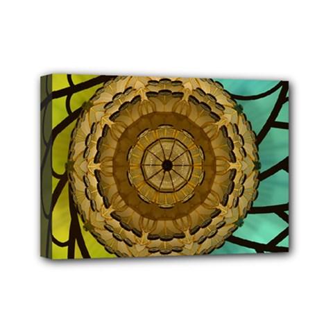 Kaleidoscope Dream Illusion Mini Canvas 7  X 5