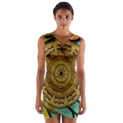 Kaleidoscope Dream Illusion Wrap Front Bodycon Dress