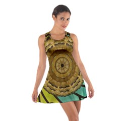 Kaleidoscope Dream Illusion Cotton Racerback Dress