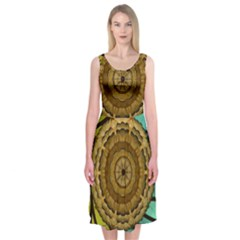 Kaleidoscope Dream Illusion Midi Sleeveless Dress