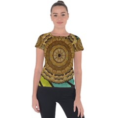 Kaleidoscope Dream Illusion Short Sleeve Sports Top