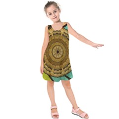 Kaleidoscope Dream Illusion Kids  Sleeveless Dress
