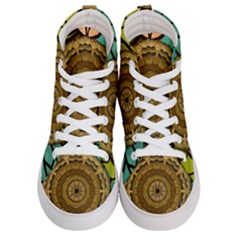 Kaleidoscope Dream Illusion Men s Hi Top Skate Sneakers