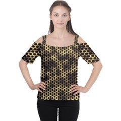 Honeycomb Beehive Nature Cutout Shoulder Tee