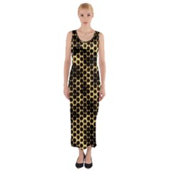 Honeycomb Beehive Nature Fitted Maxi Dress