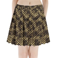 Honeycomb Beehive Nature Pleated Mini Skirt