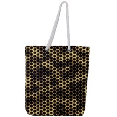 Honeycomb Beehive Nature Full Print Rope Handle Tote (large)