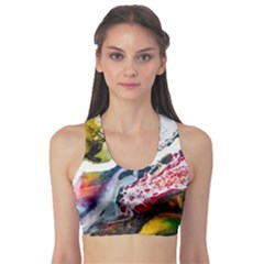 Abstract Art Detail Painting Sports Bra