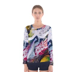 Abstract Art Detail Painting Women s Long Sleeve Tee