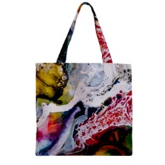 Abstract Art Detail Painting Zipper Grocery Tote Bag by Nexatart