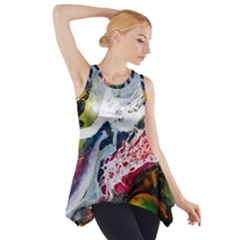 Abstract Art Detail Painting Side Drop Tank Tunic