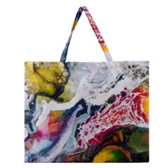 Abstract Art Detail Painting Zipper Large Tote Bag