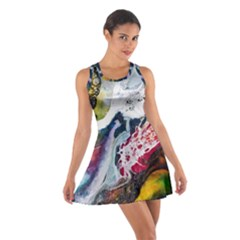 Abstract Art Detail Painting Cotton Racerback Dress