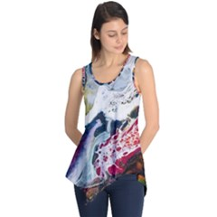 Abstract Art Detail Painting Sleeveless Tunic