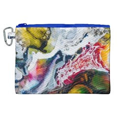 Abstract Art Detail Painting Canvas Cosmetic Bag (xl) by Nexatart