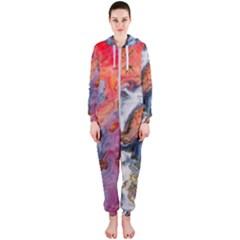Art Abstract Macro Hooded Jumpsuit (ladies)