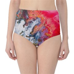 Art Abstract Macro High Waist Bikini Bottoms