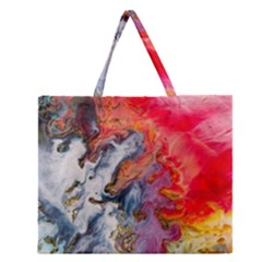 Art Abstract Macro Zipper Large Tote Bag