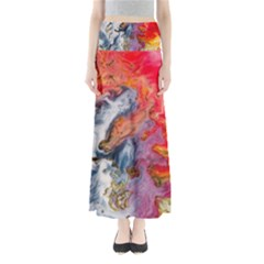 Art Abstract Macro Full Length Maxi Skirt