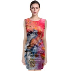 Art Abstract Macro Classic Sleeveless Midi Dress
