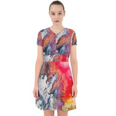 Art Abstract Macro Adorable In Chiffon Dress