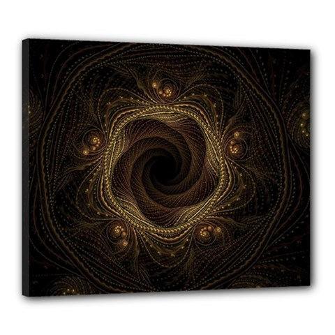 Beads Fractal Abstract Pattern Canvas 24  X 20