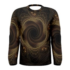 Beads Fractal Abstract Pattern Men s Long Sleeve Tee