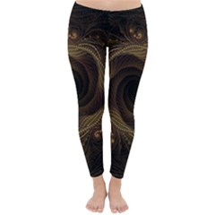 Beads Fractal Abstract Pattern Classic Winter Leggings
